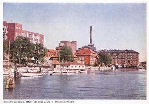 Kiel - Neumühlen, Werk Anschütz & Co. und Holsatia-Mühle